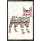 Sugarboo Designs Frenchie With Zig Zags Art Print - Lavender Fields