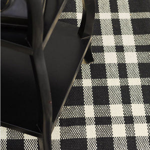 Dash and Albert Tattersall Black/Ecru Woven Cotton Rug