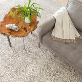 Dash and Albert Temple Taupe Wool Micro Hooked Rug
