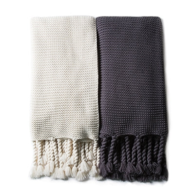 Pom Pom at Home Trestles Midnight Throw - Lavender Fields