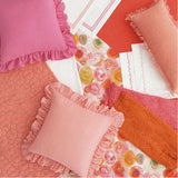 Pine Cone Hill Trio Coral Pillowcases (Pair)