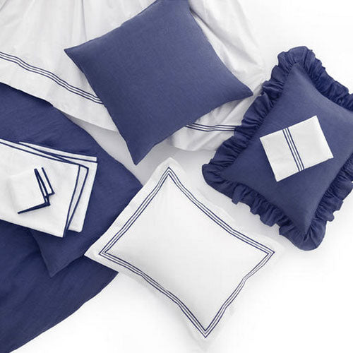 Pine Cone Hill Trio Indigo Pillowcases (Pair) - Lavender Fields