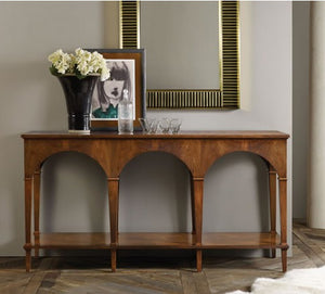 Modern History Triple Classical Console With Shelf - Lavender Fields