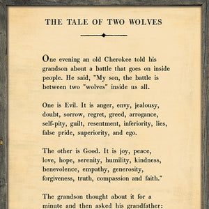 Sugarboo Designs The Tale of Two Wolves - Book Collection Sign (Grey Wood)