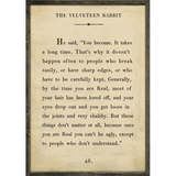 Sugarboo Designs The Velveteen Rabbit - Book Collection Sign