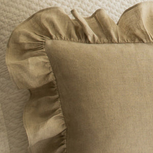 Taylor Linens Verandah Natural Boudoir Pillow - Lavender Fields