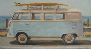Christie Repasy VW Summer Van Original Canvas Print