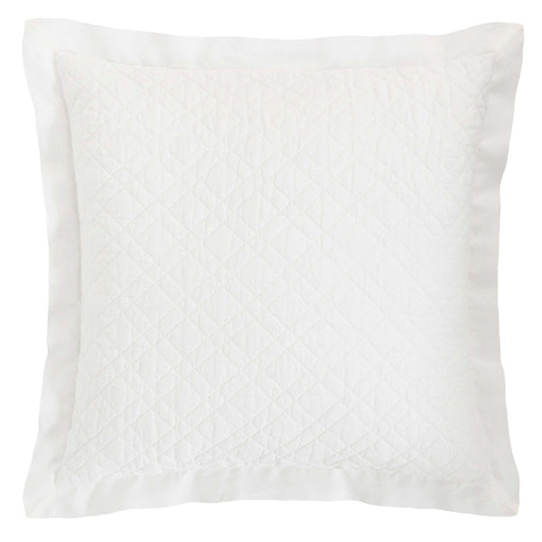 Pine Cone Hill Washed Linen Ivory Quilted Sham - Lavender Fields
