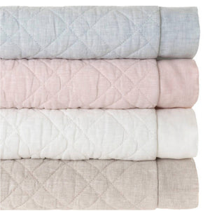 Pine Cone Hill Washed Linen Slipper Pink Quilt