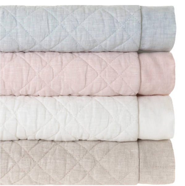 Pine Cone Hill Washed Linen Ivory Quilt