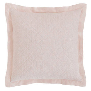 Pine Cone Hill Washed Linen Slipper Pink Quilted Sham