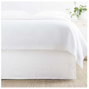 Pine Cone Hill Wilton White Bed Skirt - Lavender Fields