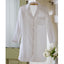 Taylor Linens White Ruffled Nightshirt