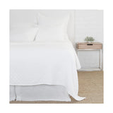 Pom Pom at Home Ojai Matelasse White Coverlet - Lavender Fields