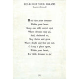 Sugarboo Designs Hold Fast Your Dreams - Poetry Collection Sign (Gallery Wrap) - Lavender Fields
