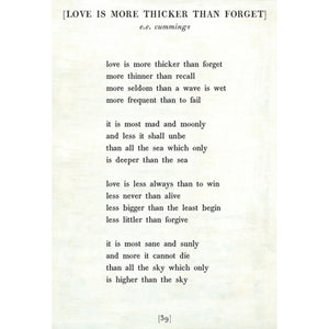 Sugarboo Designs Love is More Thicker - Poetry Collection Sign (Gallery Wrap) - Lavender Fields