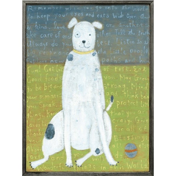 Sugarboo Designs White Boy Dog Art Print - Lavender Fields