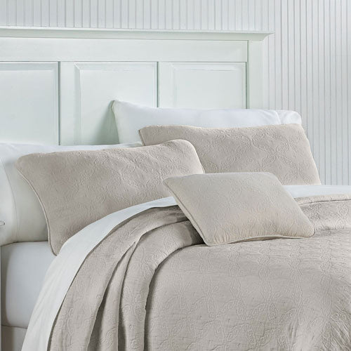 Traditions Linens Whitney Sham (Feather Gray)