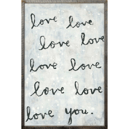 Sugarboo Designs Whole Lot of Love Art Print  (Grey Wood Frame) - Lavender Fields