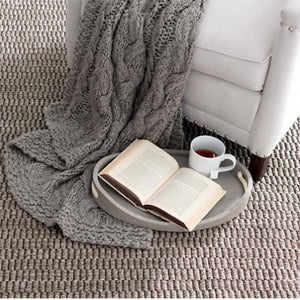 Dash and Albert Wicker Greige Sisal Woven Rug