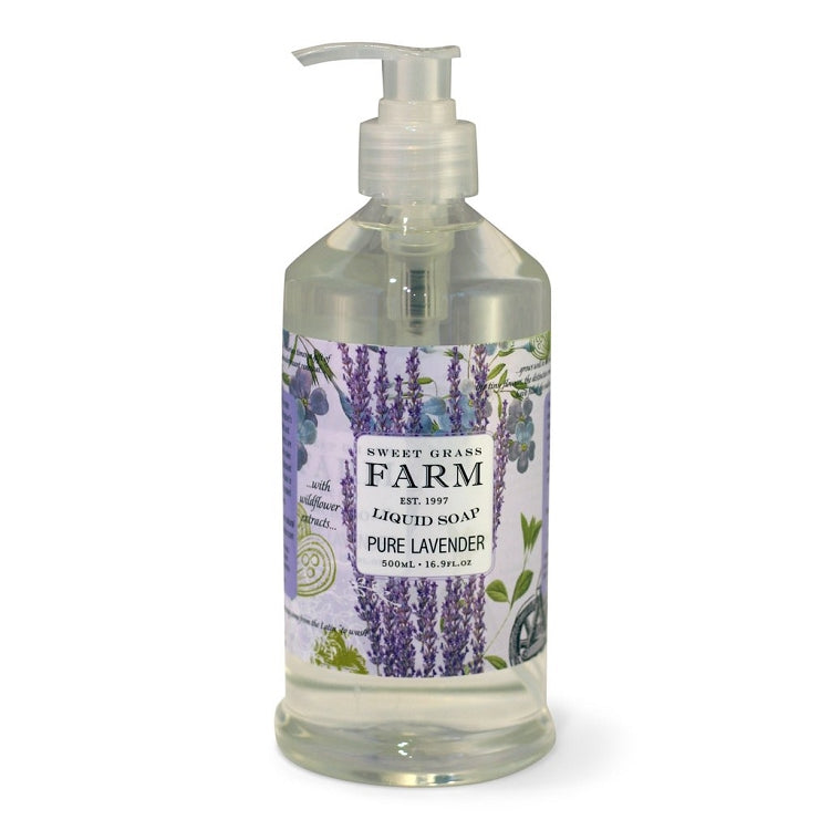 Lavender Liquid Soap With Wildflower Extracts - Lavender Fields