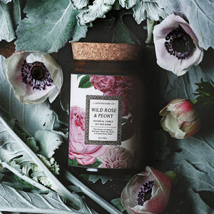 Wild Rose + Peony Candle - Lavender Fields