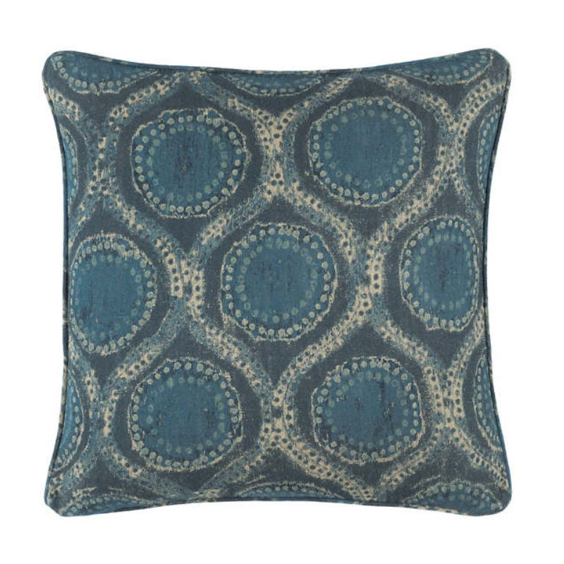 Pine Cone Hill Hobnail Willowleaf Linen Blue Decorative Pillow - Lavender Fields