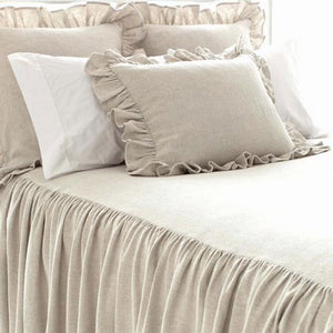 Pine Cone Hill Wilton Natural Bedspread - Lavender Fields