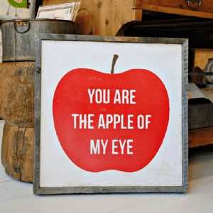 Sugarboo Designs You Are The Apple Of My Eye Art Print (Grey Wood Frame)