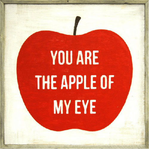 Sugarboo Designs You Are The Apple Of My Eye Art Print (Grey Wood Frame) - Lavender Fields