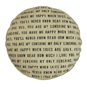 Sugarboo Designs Dog Bed - You Are My Sunshine with Polka Dots
