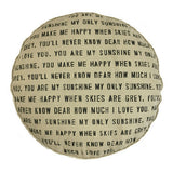 Sugarboo Designs Dog Bed - You Are My Sunshine with Polka Dots - Lavender Fields