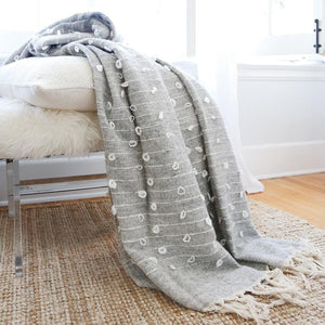 Pom Pom at Home Zaidee Oversized Throw - Lavender Fields