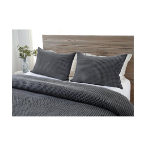 Pom Pom at Home Zuma Blanket - Charcoal - Lavender Fields