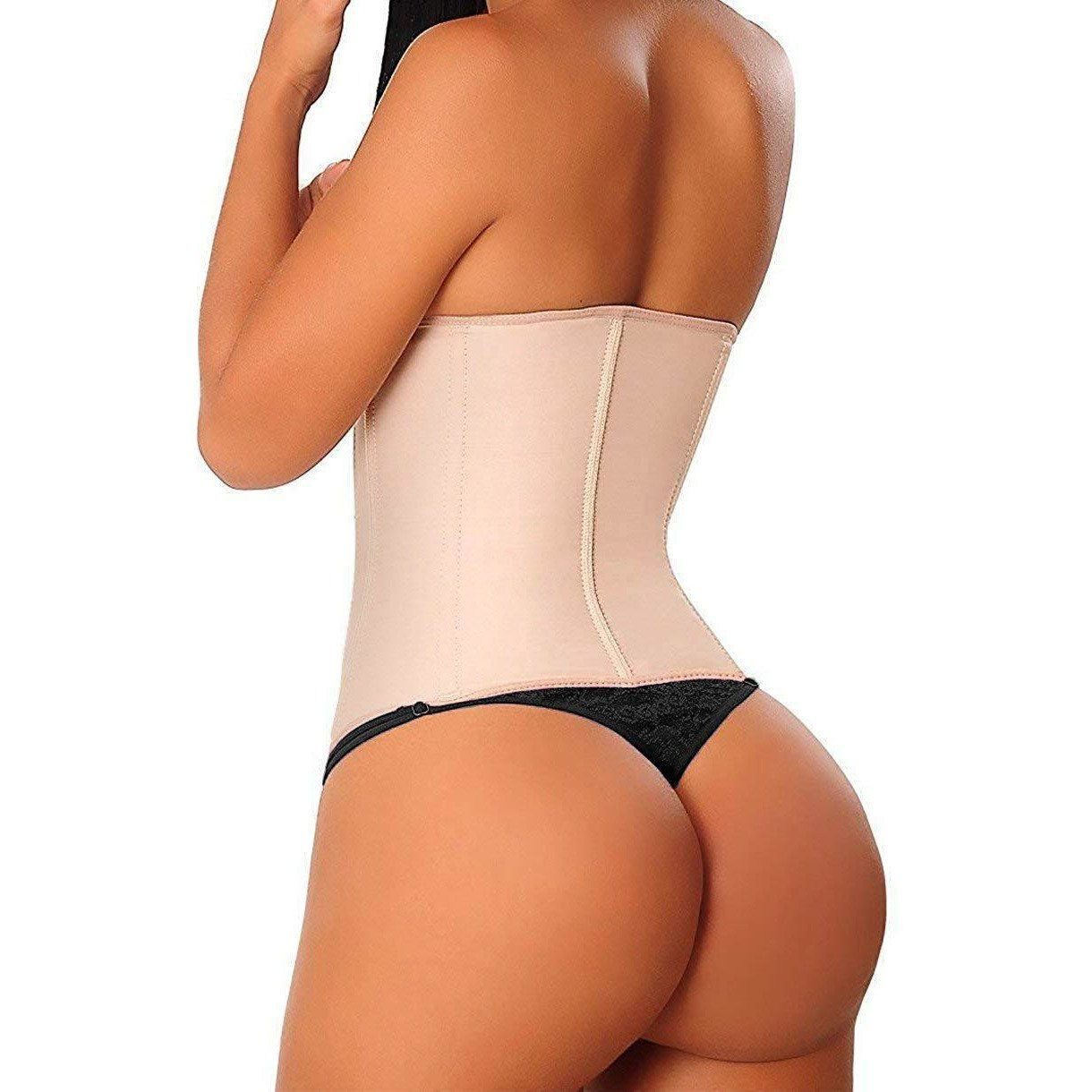 Extreme Waist Trainer 3 Hook Nude - one+beau