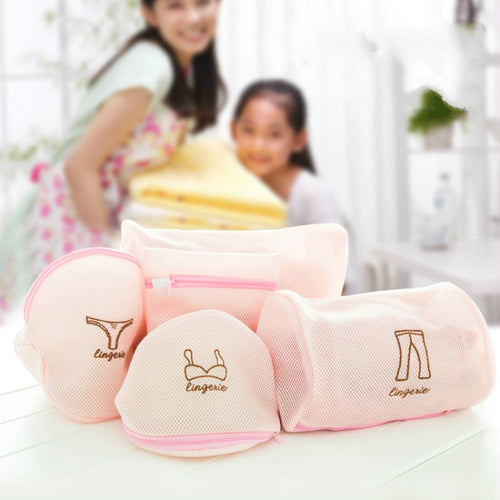 Cartoon Mesh Laundry Wash Bags Foldable - MyEKLEKTIK