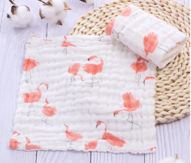 Muslin Facecloth Flamingo