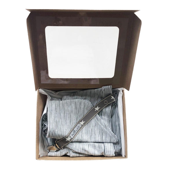 Signature Baby Basics Set/Grey Stripe