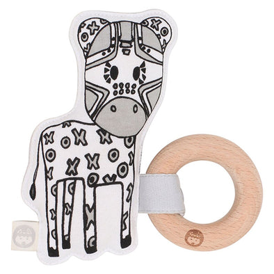 Zebra Kiplet Teether Rattle