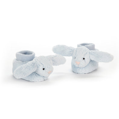 Bashful Bunny Booties - Blue