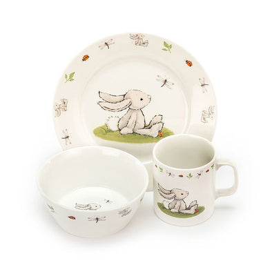 Bashful Bunny Bowl, Cup & Plate