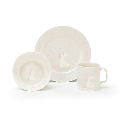 Bashful Unicorn Bowl, Cup & Plate