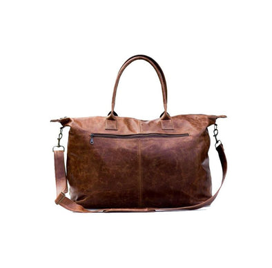 Brown Leather Weekender