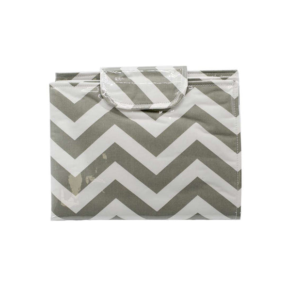 Changing Mat - Grey Chevron