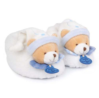 Petit Chou Bear Booties Blue