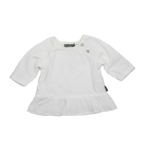 Dorothy Frill Top - White