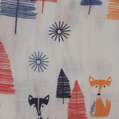 Muslin Swaddle Foxes