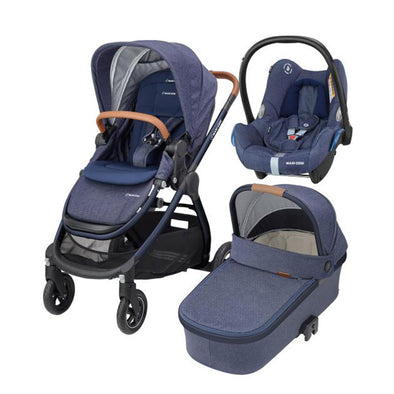Maxi Cosi Adorra Travel System with Base - Sparkling Blue