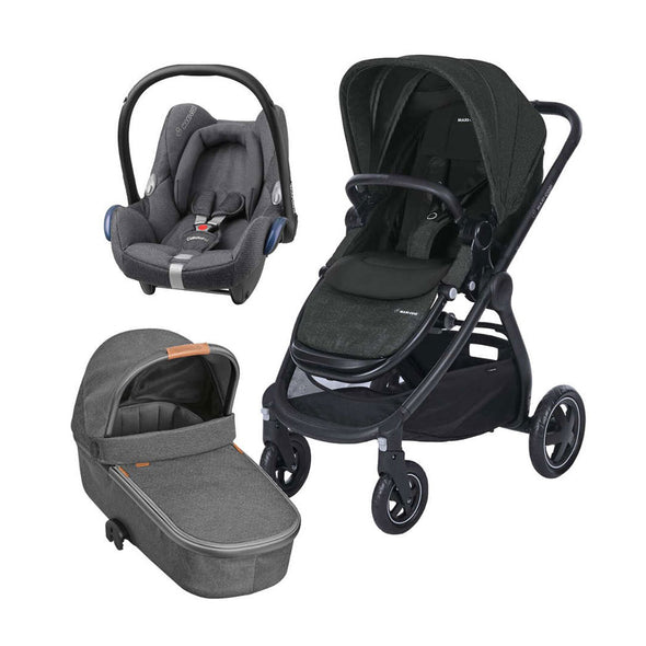 Maxi Cosi Adorra Travel System with Base - Sparkling Grey
