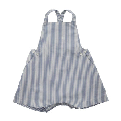 Peter Pan Playsuit - Silver Stripe
